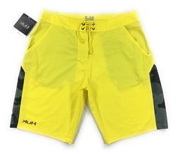 Huk Fishing Boardshorts Mens Yellow Black Camo Quick Dry Per