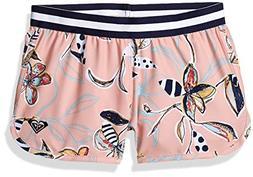 Roxy Little Girls' Let's Be Boardshort, Coral Almond Trellis
