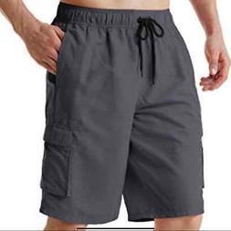 Tesla Gray Quick Dry Board Shorts Swim Trunks XL Extra Large