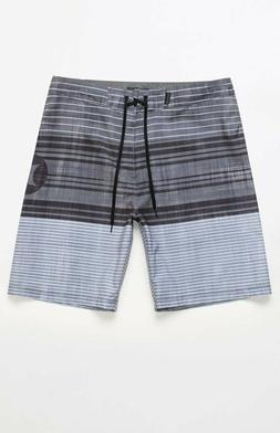 HURLEY Gray/White/Black STRANDS BOARDSHORTS Surf Swim Shorts