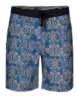 "Hurley Groovy 20"" Boardshorts Supersuede Blue White Swim Sho"