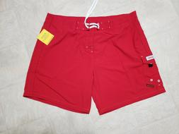 Maui Rippers Hawaii Lifeguard Size 44  Board Shorts red new