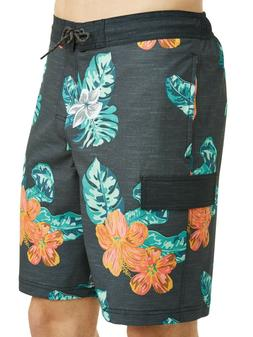 "George Hibiscus 9"" E-board Boardshorts Swim Trunks Shorts Gr"