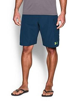 Under Armour HIIT Boardshorts - Blackout Navy / Fuel Green -