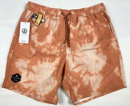 Neff Hot Tubs Board Shorts Men's Size Small Brown 17 inch Lo