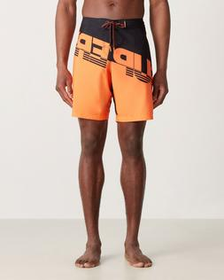 SUPERDRY Hydro Colorblock Diagonal Board Shorts, NWT, Black/