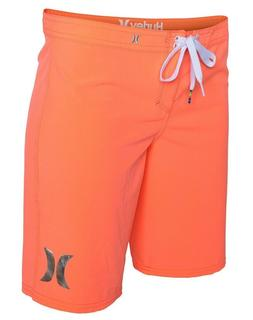 "Hurley Junior's Women's Swim Surf 9"" Bright Coral Phantom Bo"