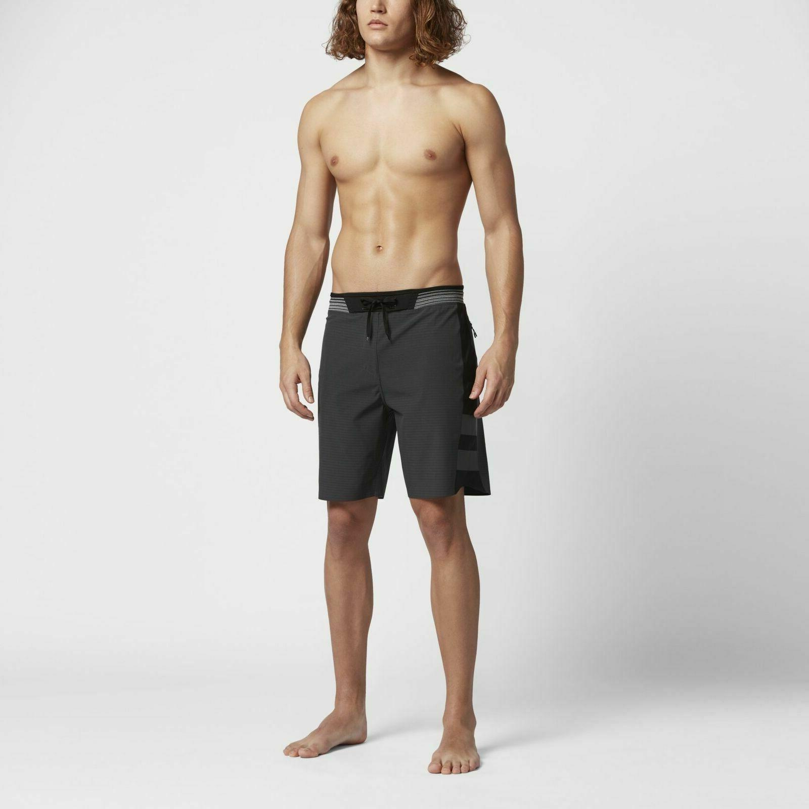$150 Men's 30 Phantom Hyperweave Motion Elite Stripe Boardshorts