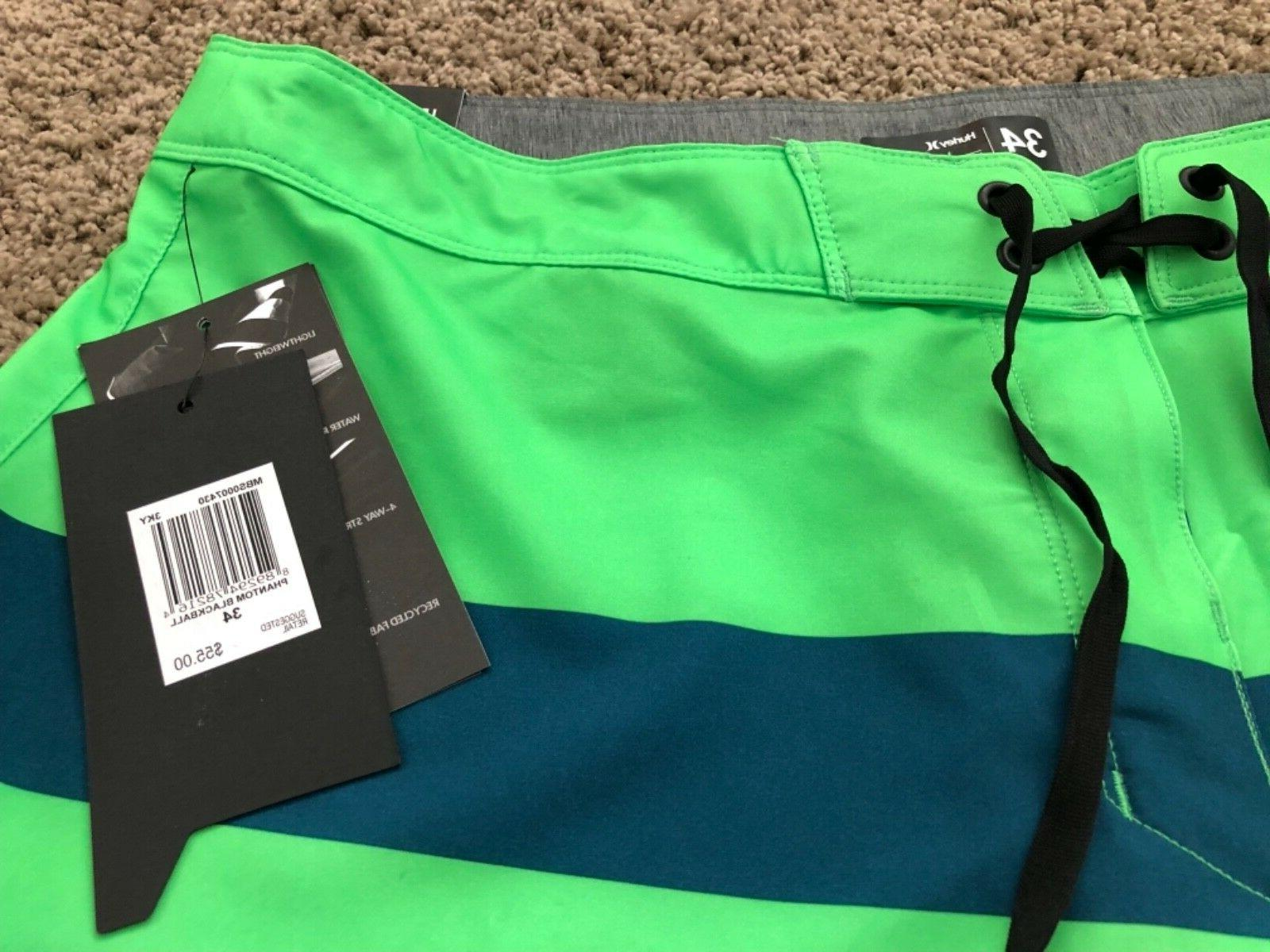 $55 HURLEY PHANTOM GREEN BOARD SHORTS