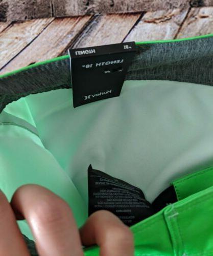 """$55 Phantom Blackball 18"""" Board Shorts Green Men's"""