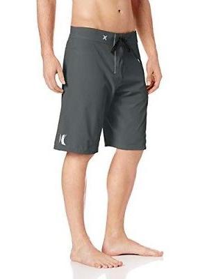 "Hurley Men's Size 32 Phantom 21"" Dark Grey Swim Trunks Board"