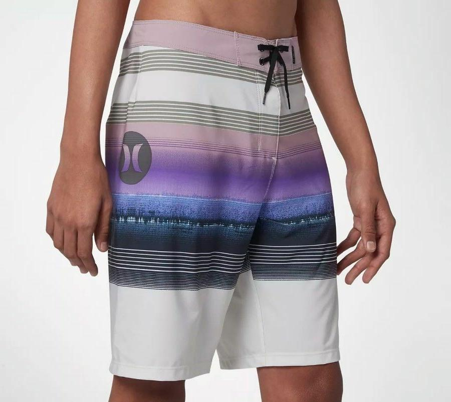 "Hurley Phantom Gaviota 20"" Boardshorts Light Bone Purple Blu"