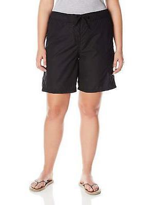 Kanu Surf Womens Plus-Size Marina Board Shorts, Black, 2X