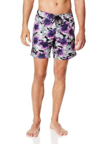 Maui & Camo Bloom Ripstop Boardshort, Purple,