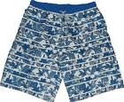 NEW Mens Decathlon White & Blue Tropical Print Swim Board Sh