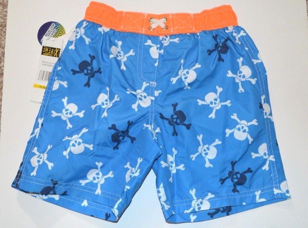 NWT ixtreme Boys Pirate Boardshorts Swim Trunks Shorts Swimw