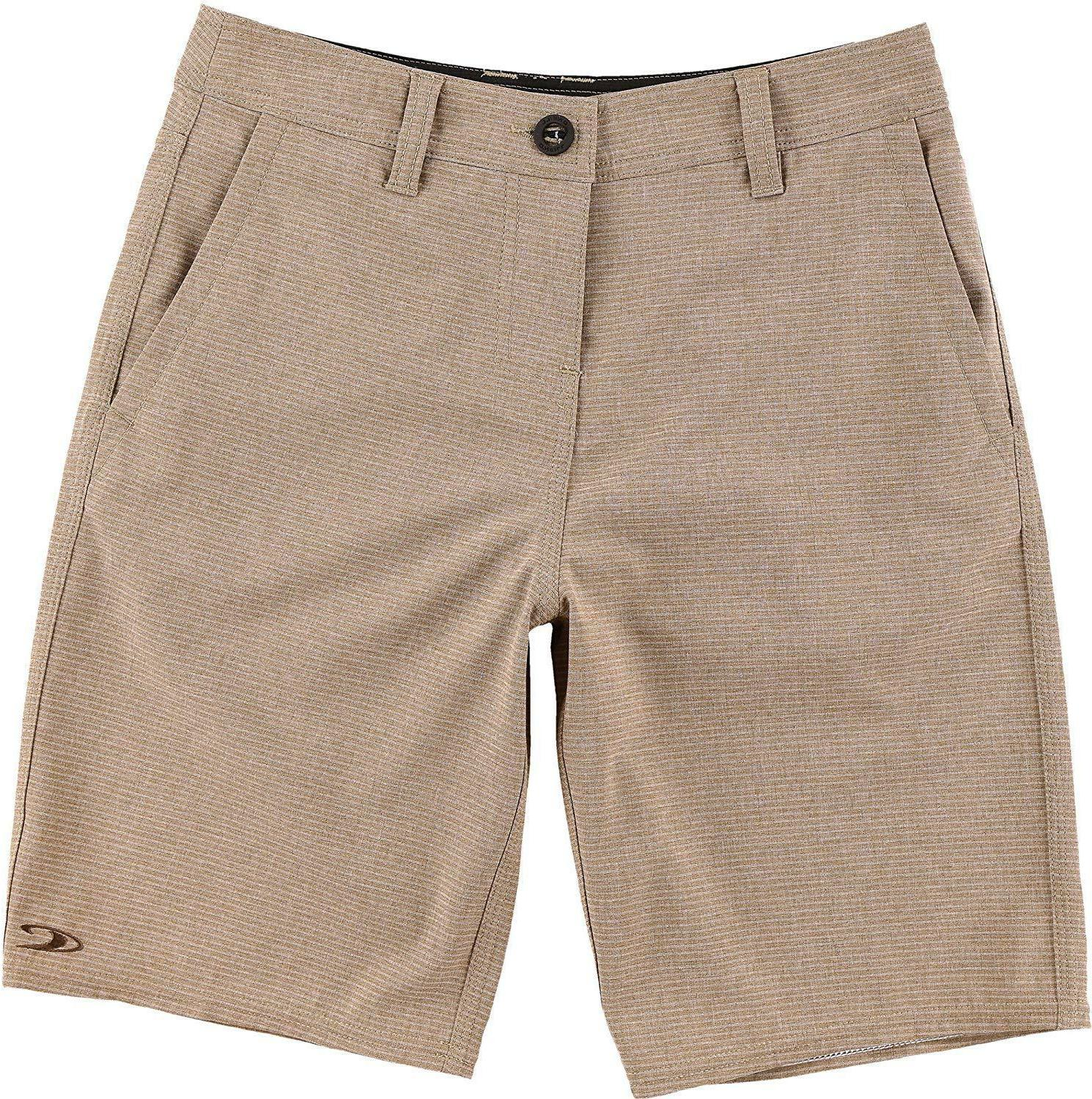 "O'Neill Boys 10 SLIM Waist 23"" Locked Stripe Hybrid Shorts M"
