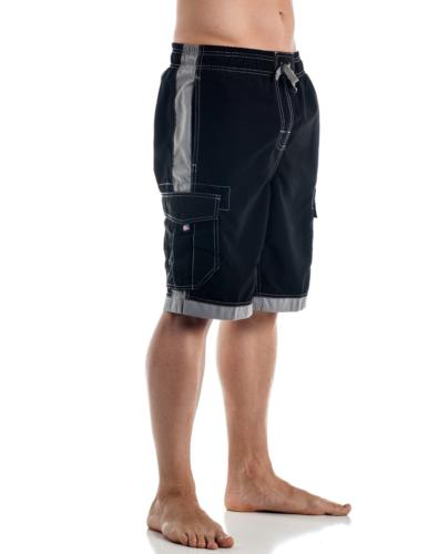 Alki'i Men's Boardshorts - Solid Colors Team USA, 2XL, Black