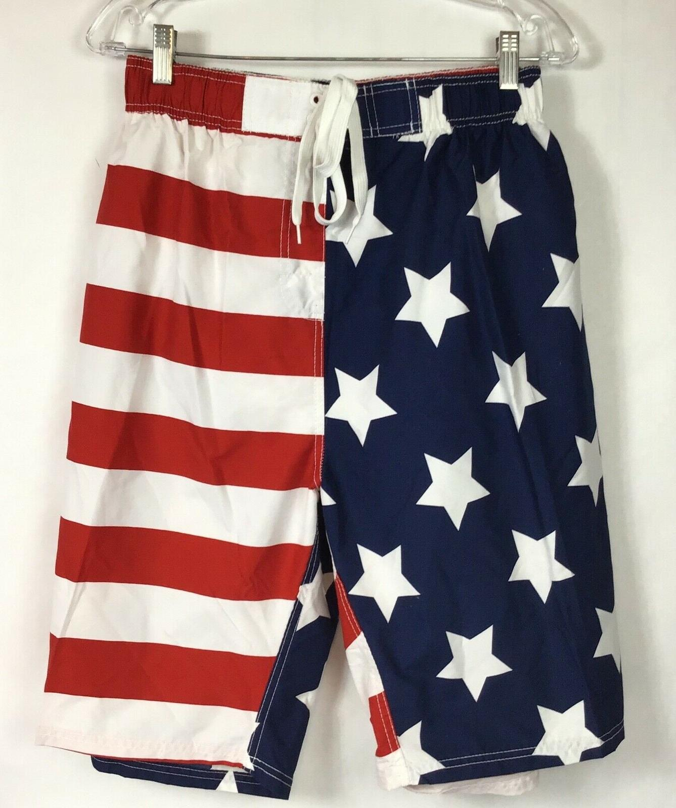 KANU Swiim Trunks Board Mesh USA Flag