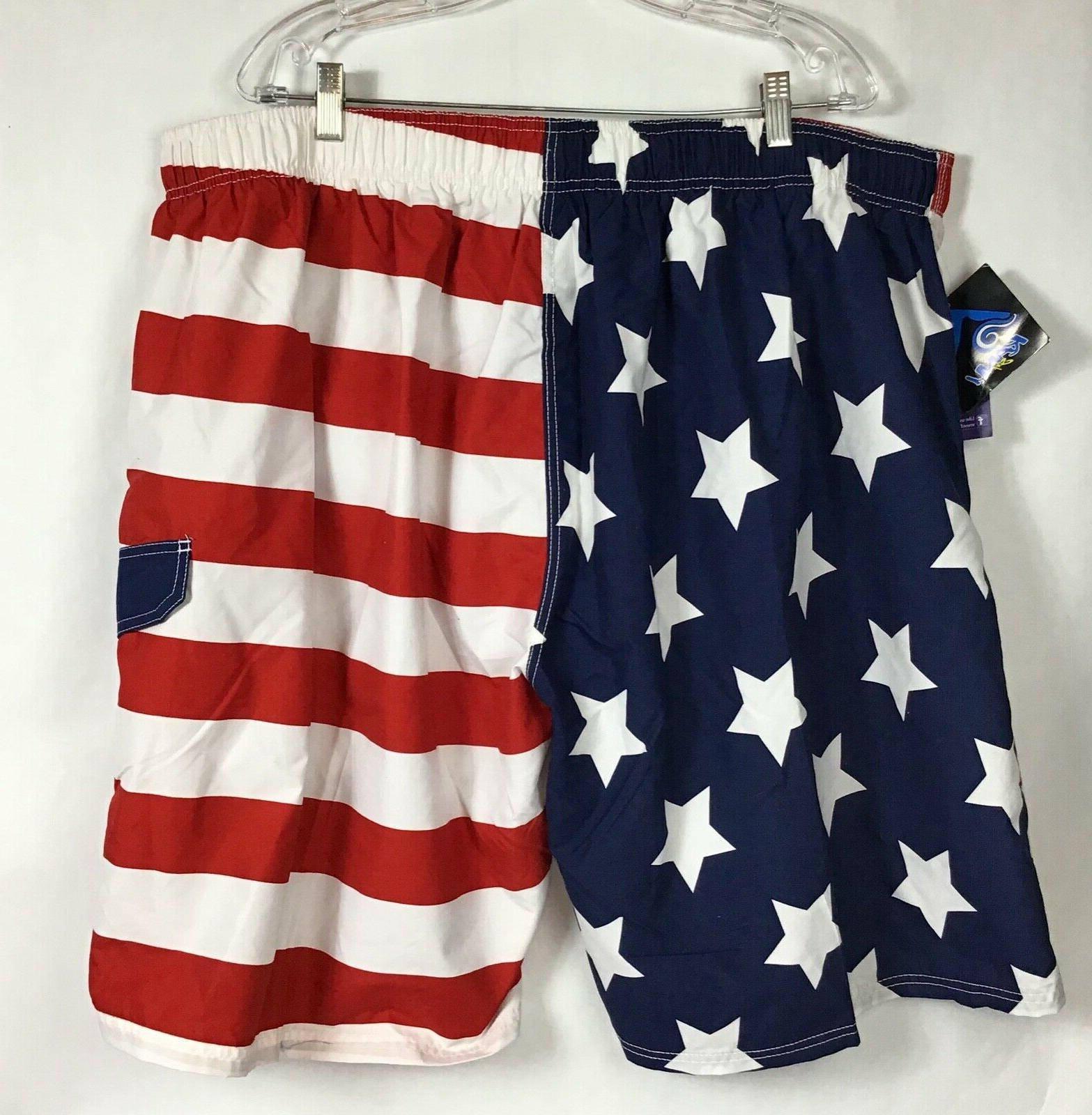 KANU Americana Swiim Trunks Board Mesh Flag