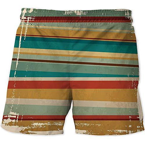 MOOCOM Athletic Orange,Quick-Drying Swim Shorts with