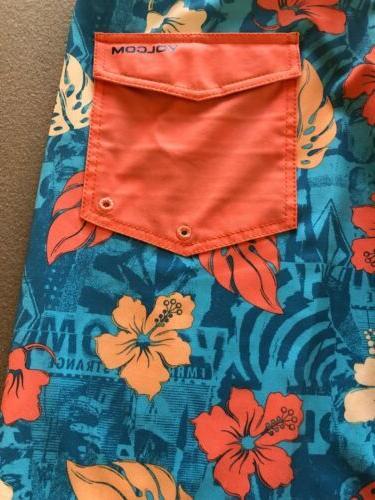 Volcom Blue And Tropical Fentler Trunks New 31 $50