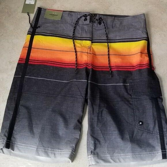 board shorts black multicolor size 30 waist