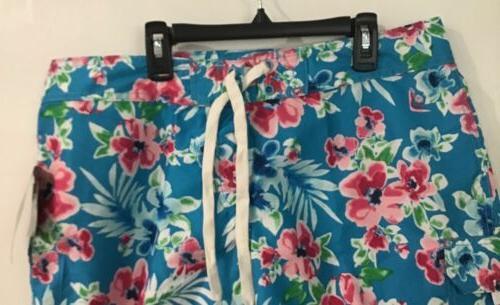 Kanu Katya Aqua Floral Cargo Women's 12 $38