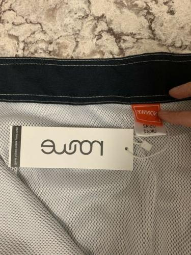 Nonwe Board Shorts Trunks 42 Black Orange Stripe