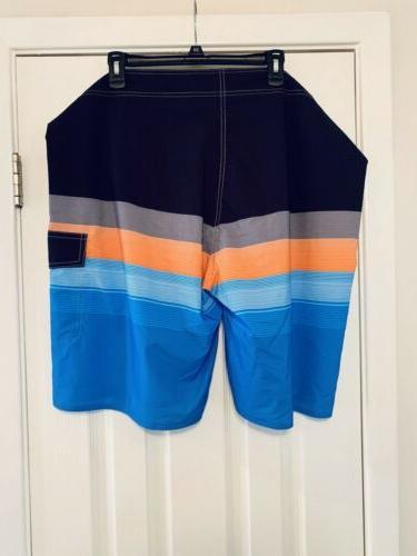 Nonwe Shorts Trunks Quick Dry 42 Black Orange Stripe