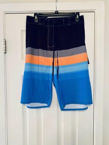 Nonwe Board Trunks Dry 42 Black Blue Orange Stripe