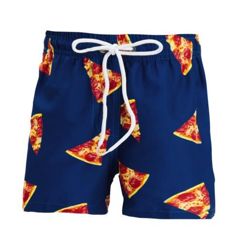 Uideazone Boys Swim Trunk Quick Dry Pizza Print Boardshorts