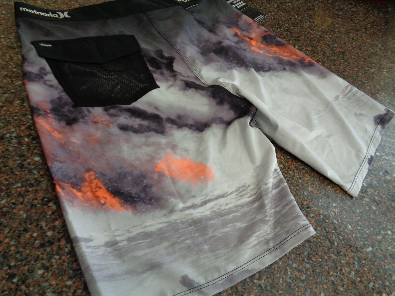 "Hurley Clark Lava Board Shorts Size NWT Bathing 20"" Length"