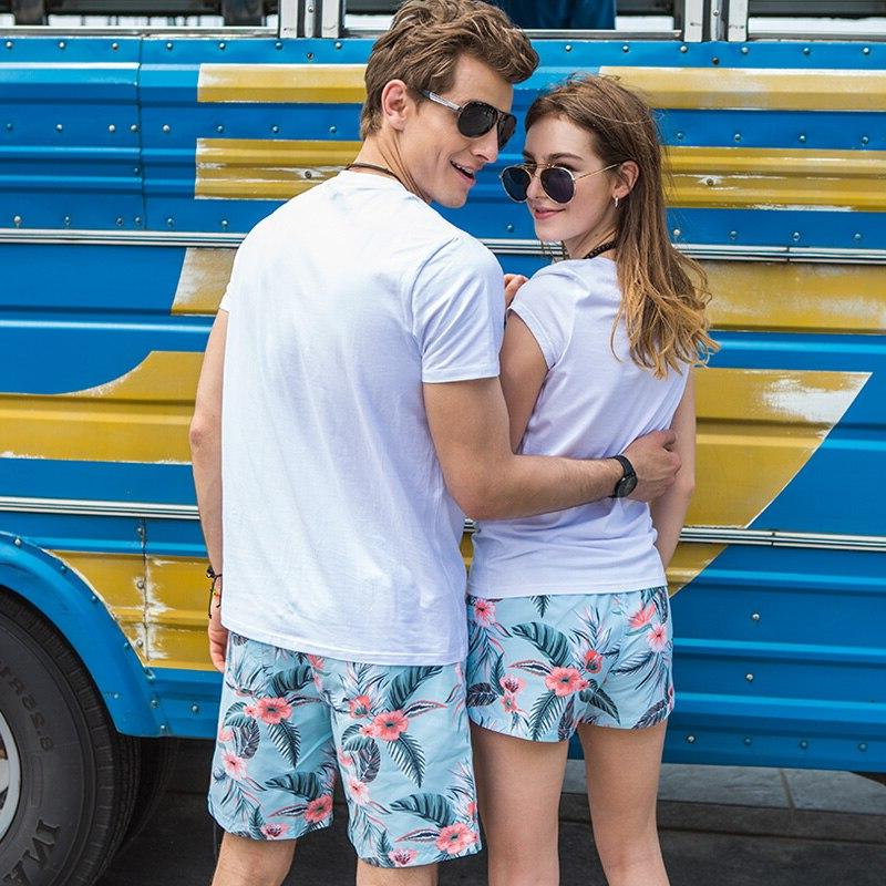 Gailang couples sports mens flowers bermudas beach surfing bathing joggers