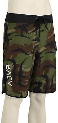 RVCA Eastern Boardshorts - Green Camo - New