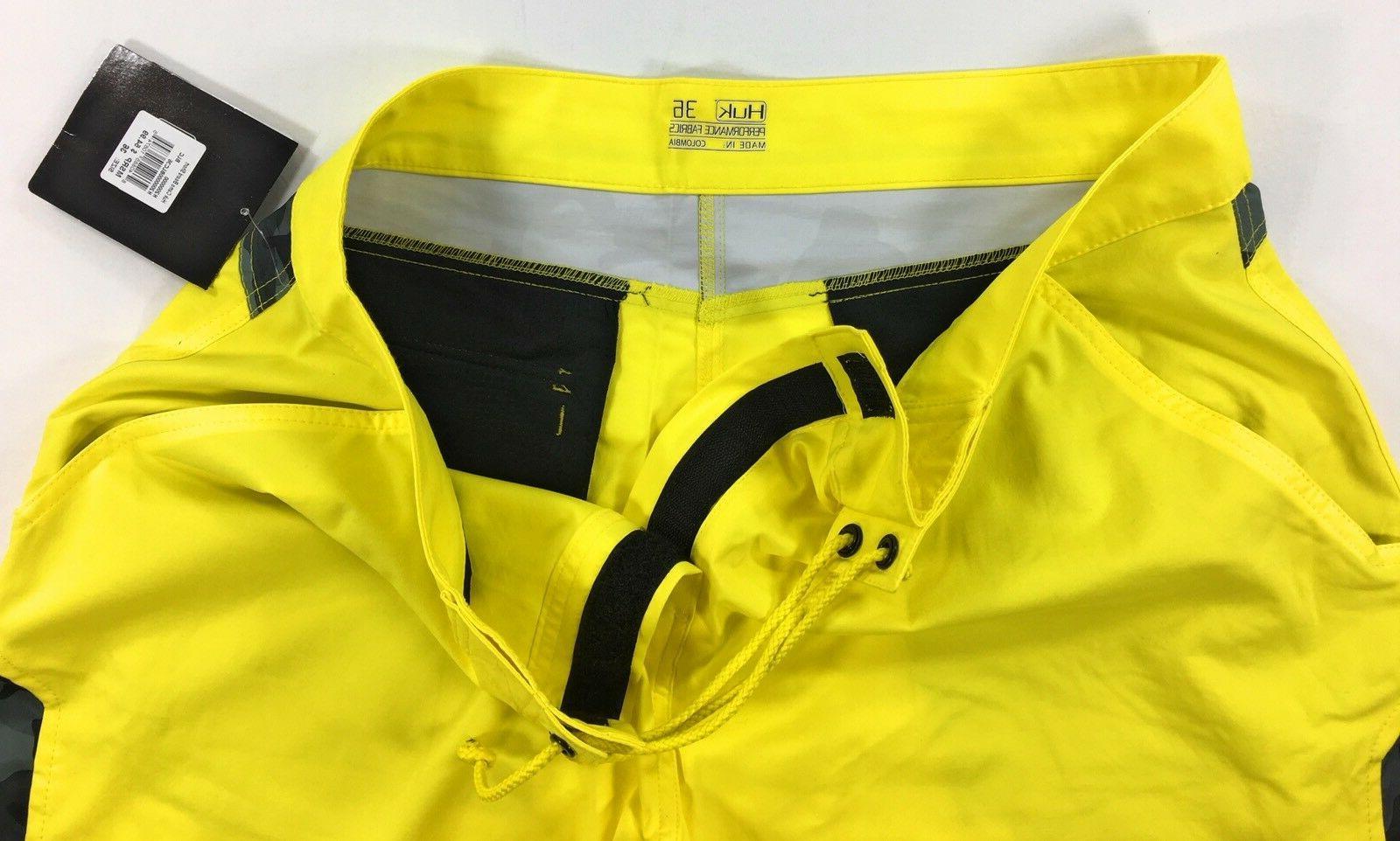 Huk Mens Yellow Quick Dry