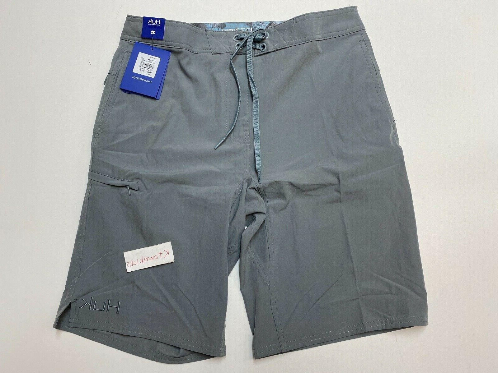 freeman performance fishing board shorts gray men
