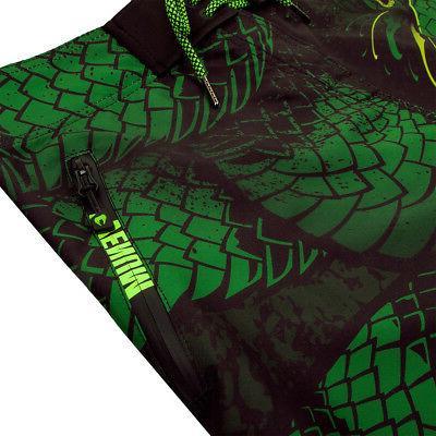 Venum Green Viper Lightweight Drawstring Closure MMA Boardshorts Black//Green