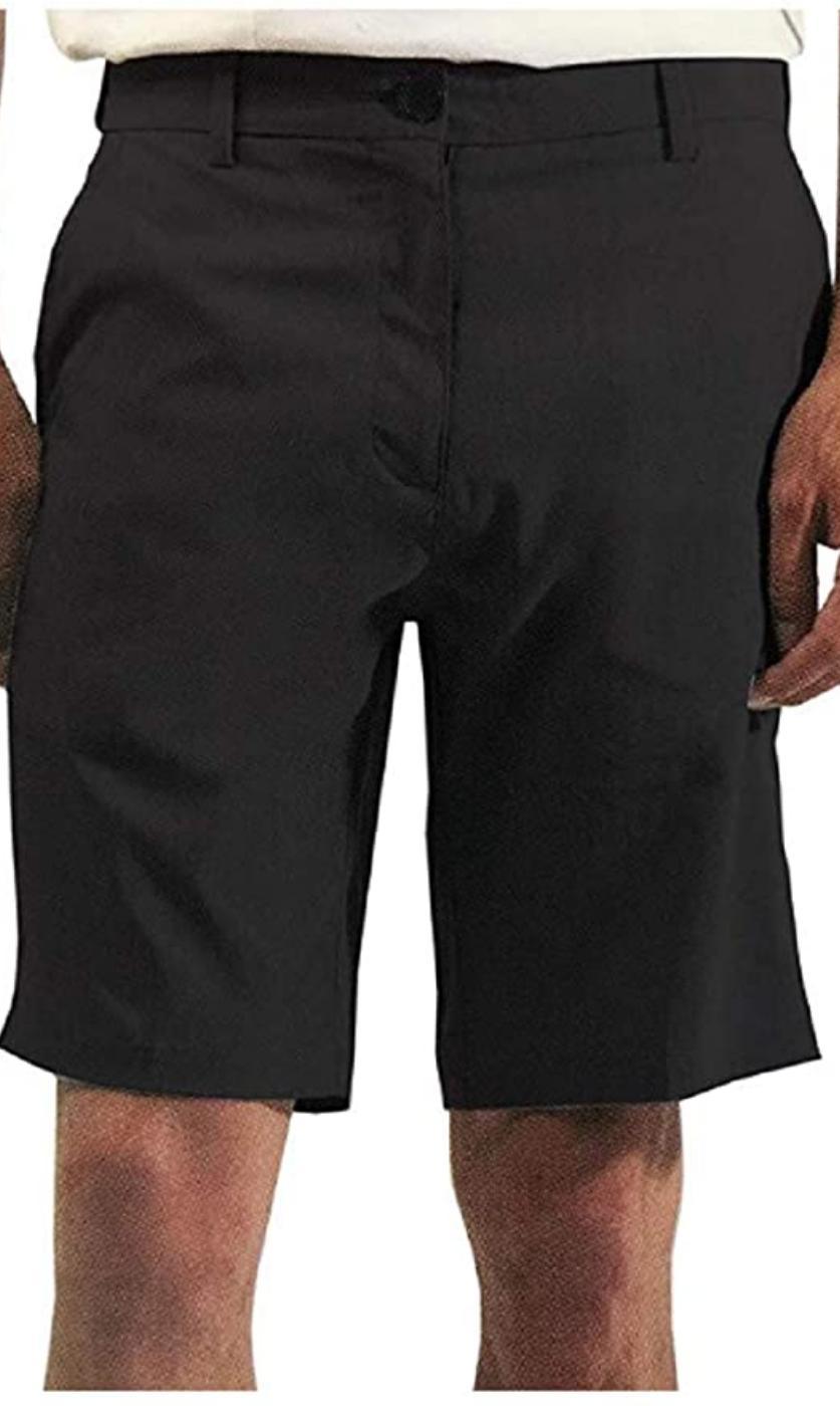 hybrid 4 way stretch casual shorts black