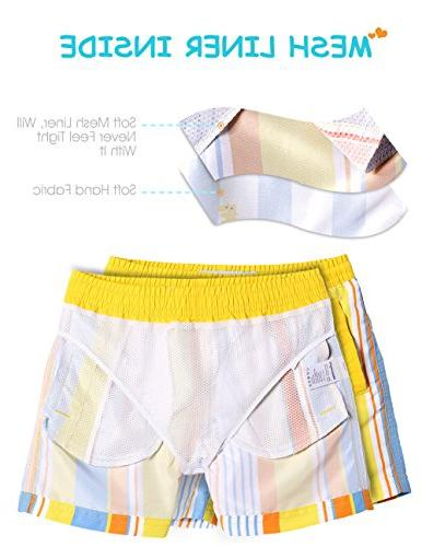 MaaMgic Toddler Boys Cute Short Swim Trunks Boardshorts Suit with Drawstring