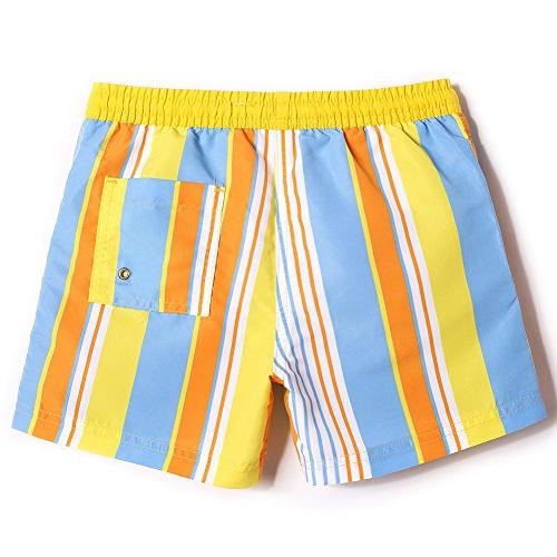 MaaMgic Toddler Boys Kids Cute Boardshorts Quick Swim Suit with Drawstring