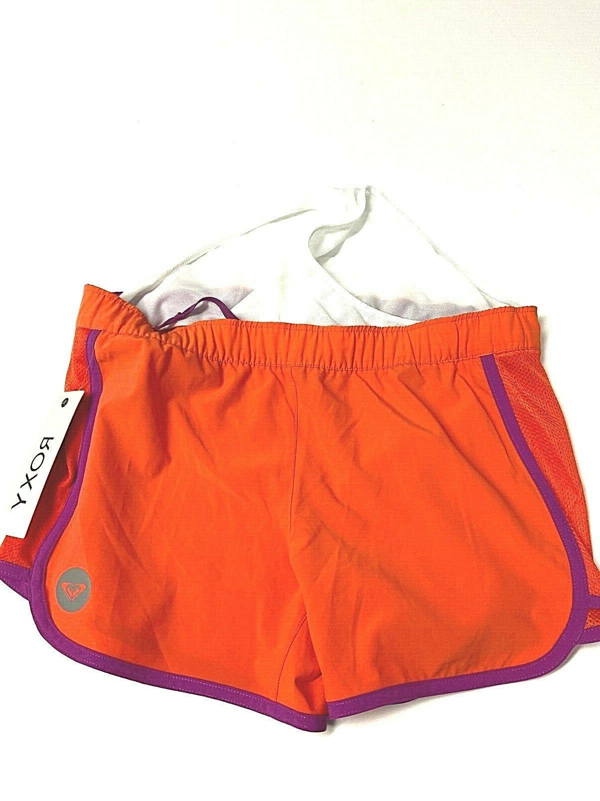Roxy Line Shorts Size S Orange Liner Workout