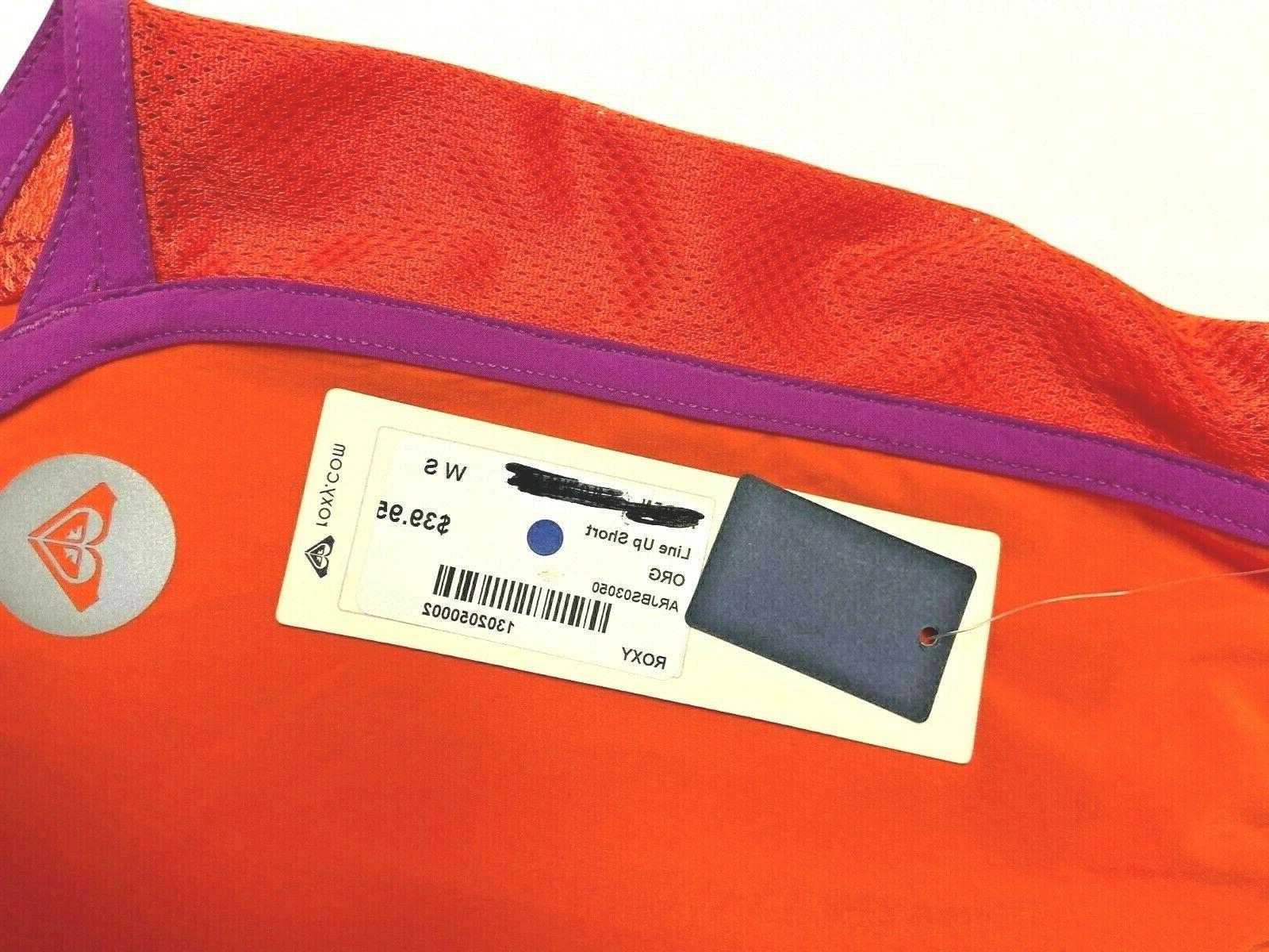 Roxy Line Up Shorts Size S Orange Brief Liner