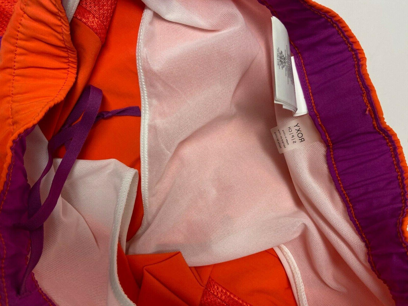 Roxy Shorts NWT Orange Brief Liner Workout