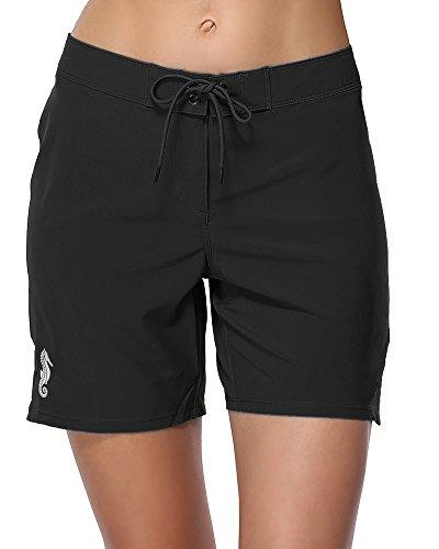 long board shorts for women swim quick