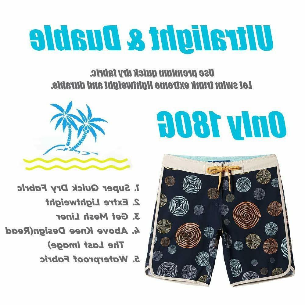 4 Way Stretch Swim Trunks Board Shorts Qucik