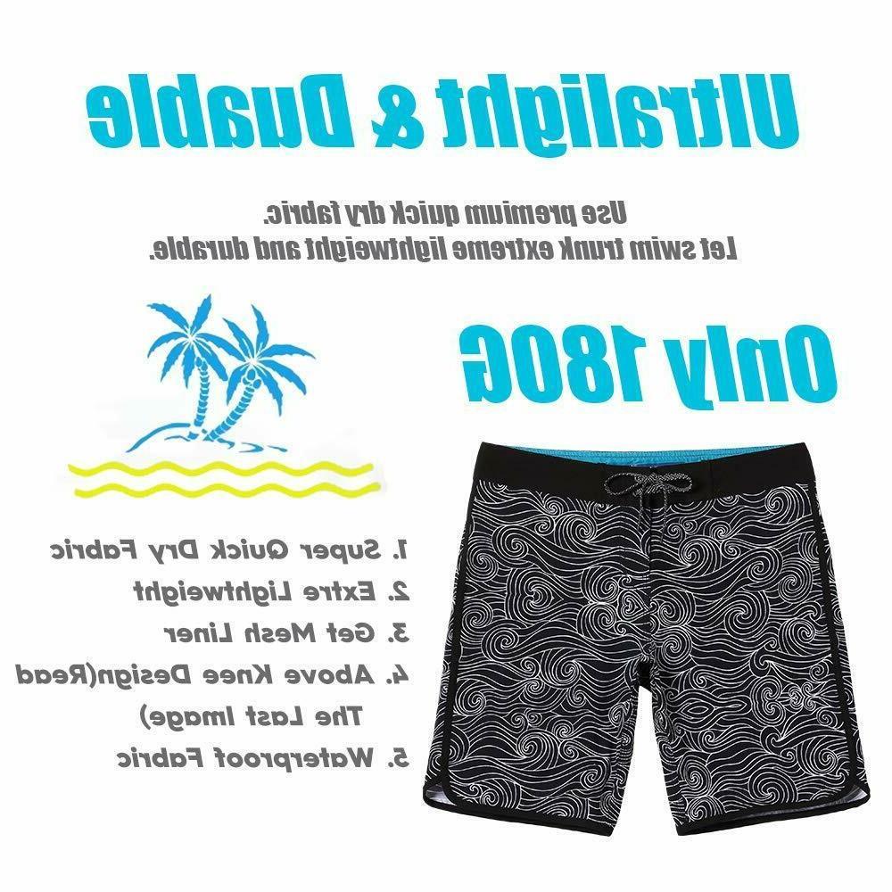 MaaMgic Mens Beach Wear 4 Way Stretch Swim Trunks Funny Qucik Dry