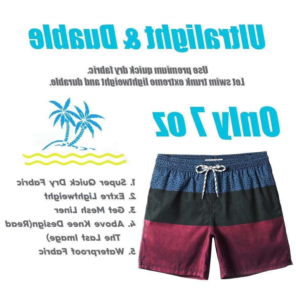 MaaMgic Mens Printed Short Swim Trunks with