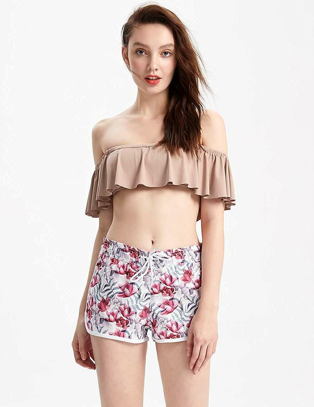 MaaMgic Womens Shorts Printed Retro