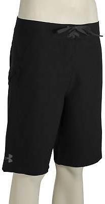 Under Armour Mania Tidal Boardshorts - Black / Stealth Grey